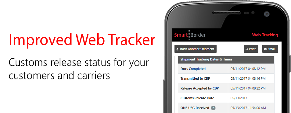 Customs release status for your customers and carriers